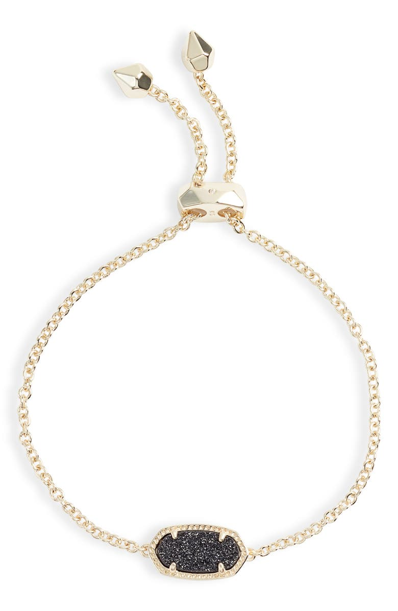 KENDRA SCOTT Elaina Bracelet, Main, color, GOLD/ BLACK DRUSY