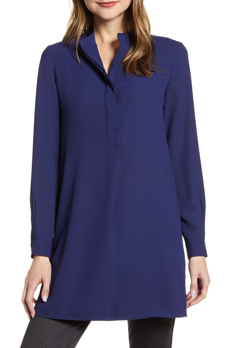 ANNE KLEIN Tunic Shirt, Main, color, DISTANT MOUNTAIN