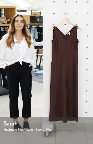 V-Neck Wide Leg Crop Jumpsuit, sales video thumbnail