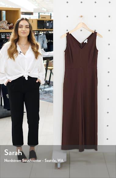 V-Neck Wide Leg Crop Jumpsuit, sales video thumbnail