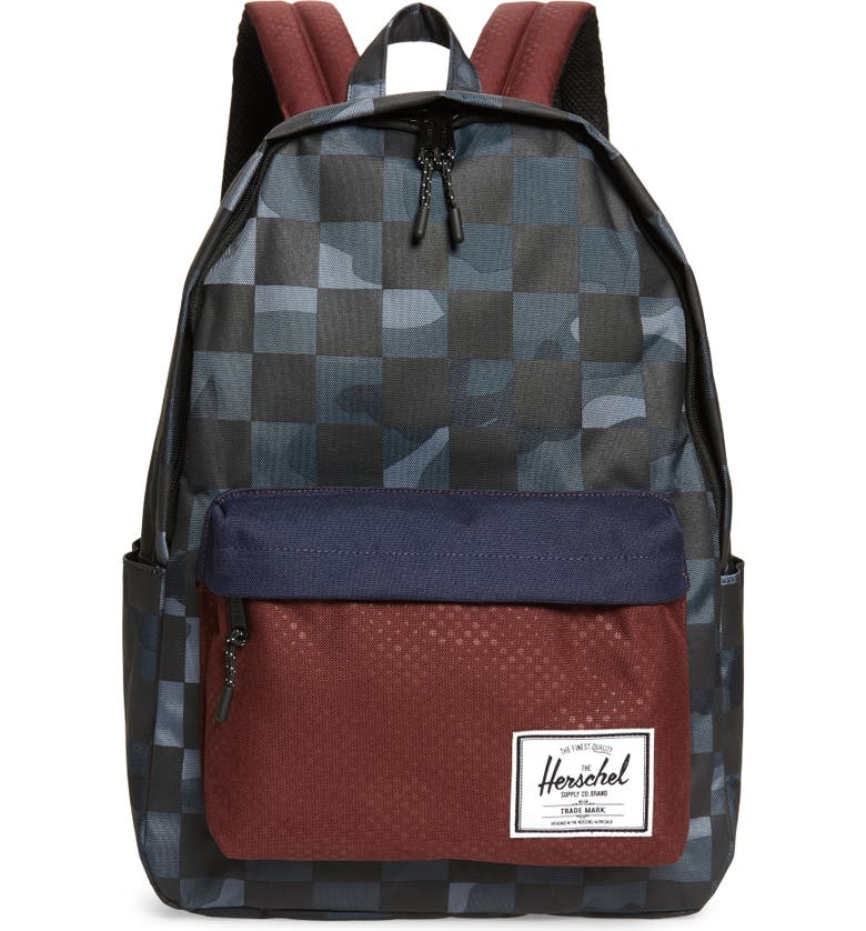 HERSCHEL SUPPLY CO. Classic X-Large Backpack, Main, color, NIGHT CAMO/ PLUM DOT CHECK