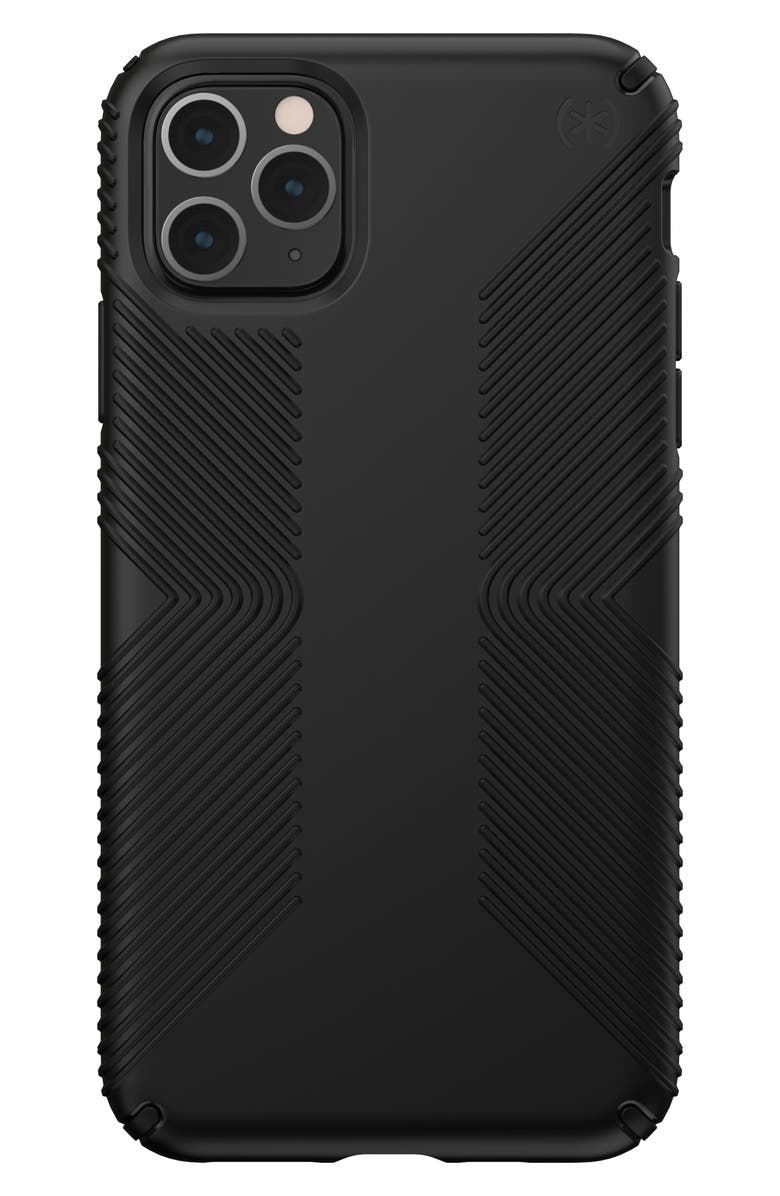 SPECK Presidio Grip iPhone 11/11 Pro/11 Pro Max Phone Case, Main, color, BLACK/ BLACK
