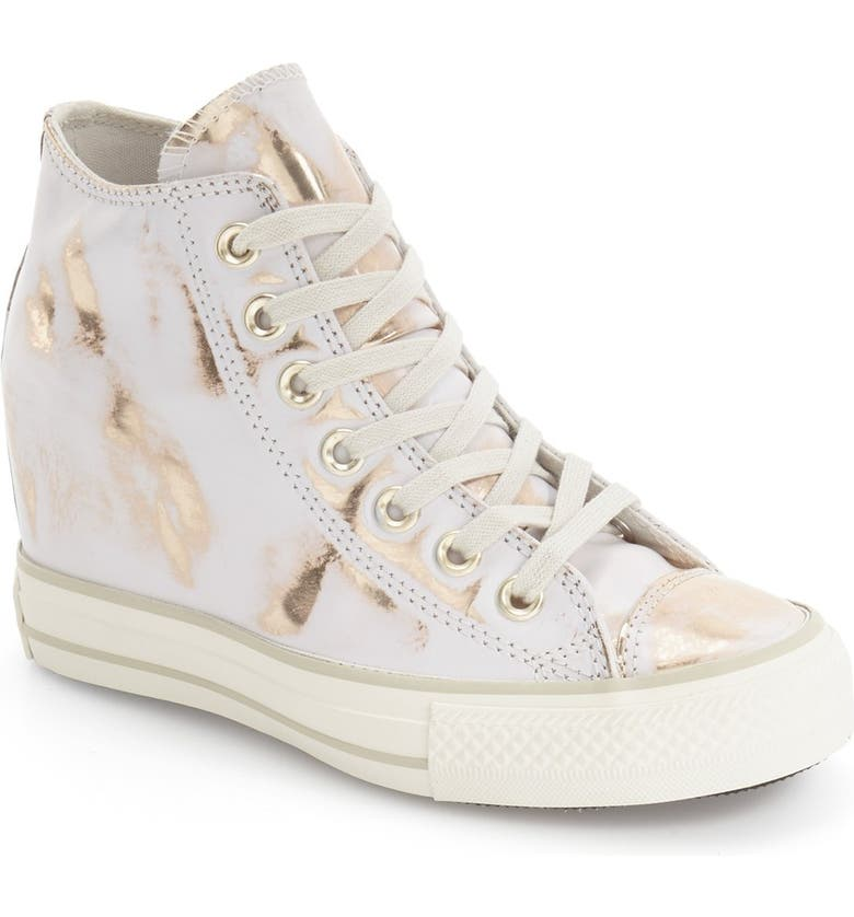 Chuck Taylor® All Star® Lux Brush Off Hidden Wedge High Top Sneaker
