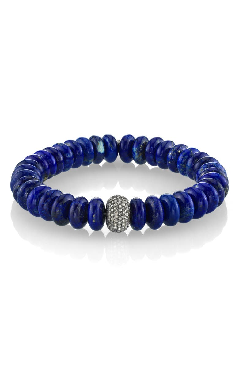 SHERYL LOWE Lapis Bracelet with Pavé Diamonds, Main, color, 400