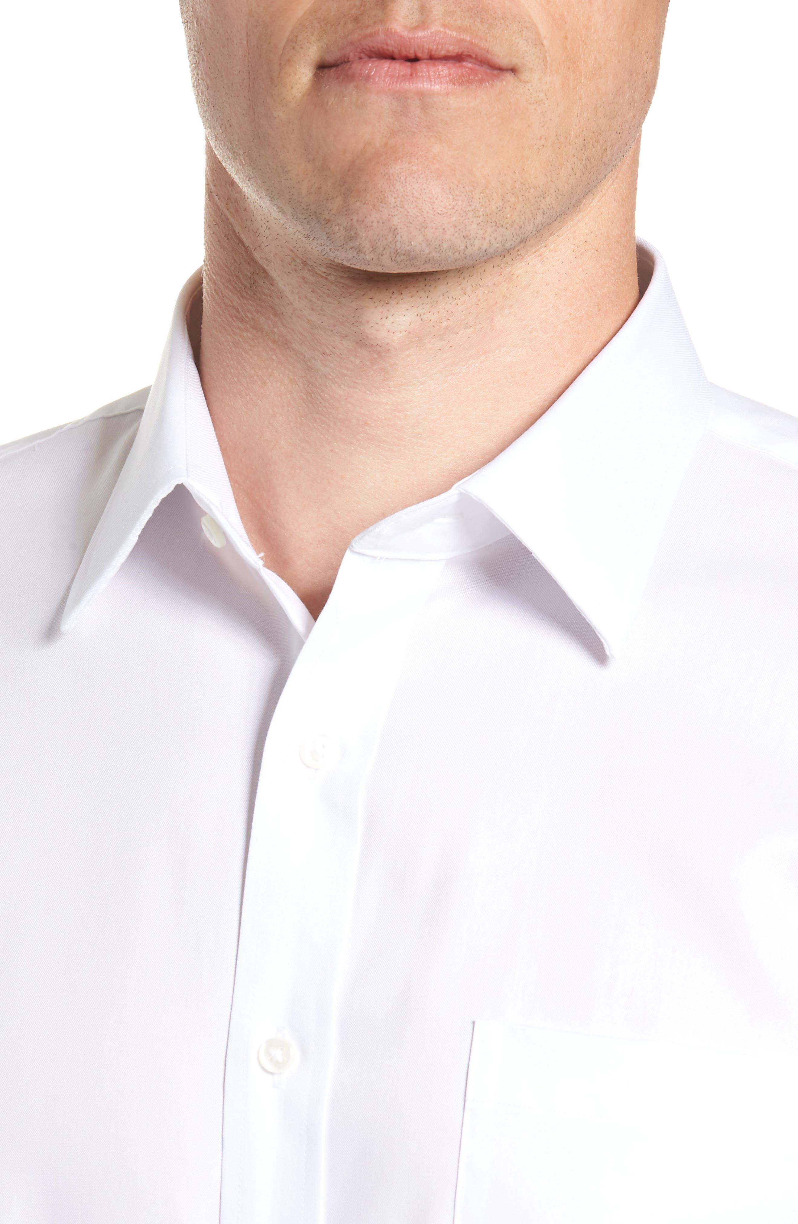 ,                             Trim Fit Non-Iron Dress Shirt,                             Alternate thumbnail 2, color,                             WHITE