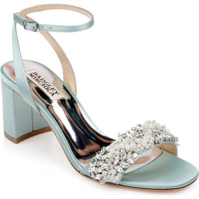 Badgley Mischka Clara Embellished Sandal, Blue/green