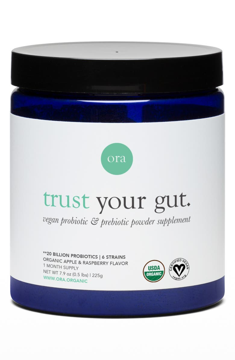 ORA ORGANIC Trust Your Gut Vegan Probiotic & Prebiotic Powder Dietary Supplement, Main, color, 000