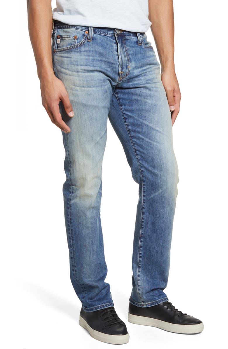 AG Graduate Slim Straight Leg Jeans, Main, color, 21 YEARS SEIZE