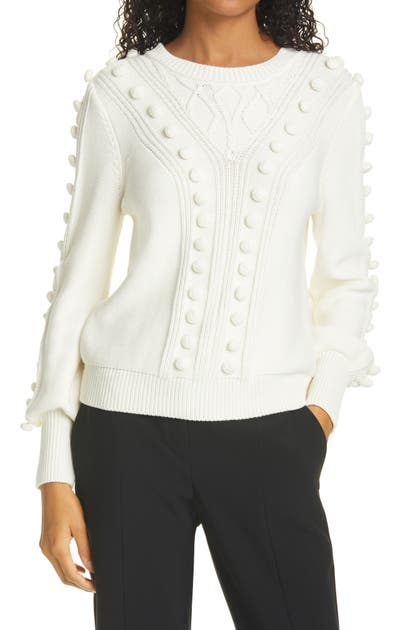 Milly Sweaters BOBBLE COTTON SWEATER