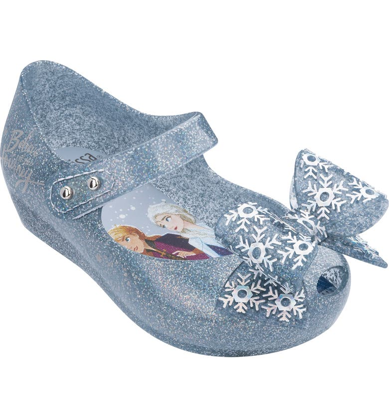 MINI MELISSA 'Frozen' Ultra 25 Mary Jane, Main, color, SILVER GLITTER