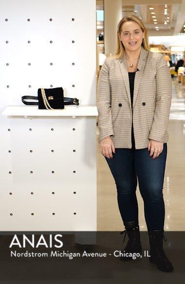 Nikki Quilted Velvet Belt Bag, sales video thumbnail
