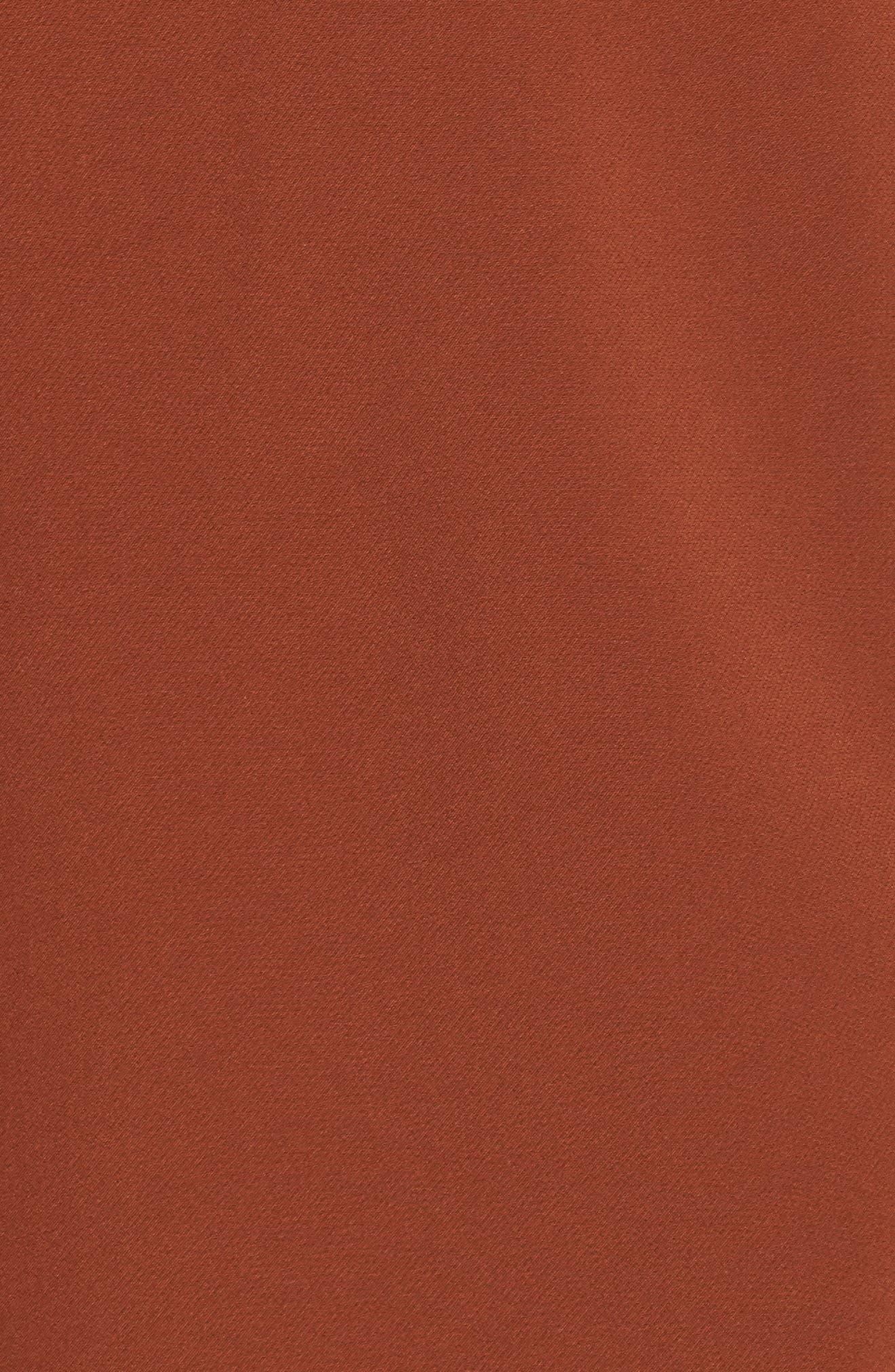 ,                             Crepe Oversize Car Coat,                             Alternate thumbnail 7, color,                             BRICK
