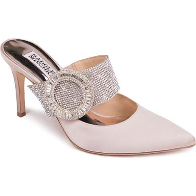 Badgley Mischka Ellie Buckle Pointy Toe Mule- Beige