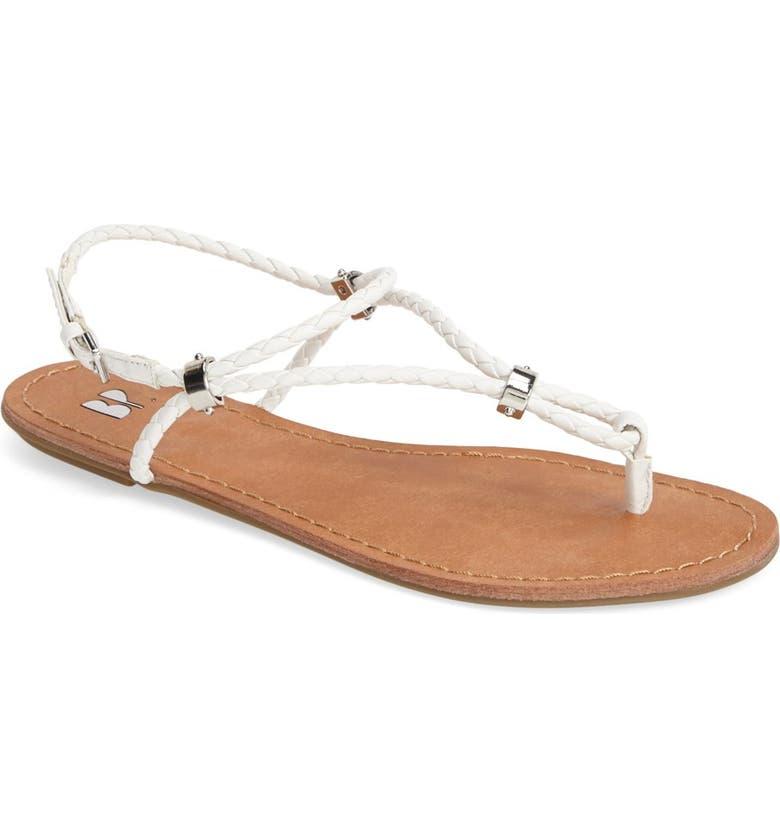 BP. 'Mantra' Flat Thong Sandal, Main, color, 100