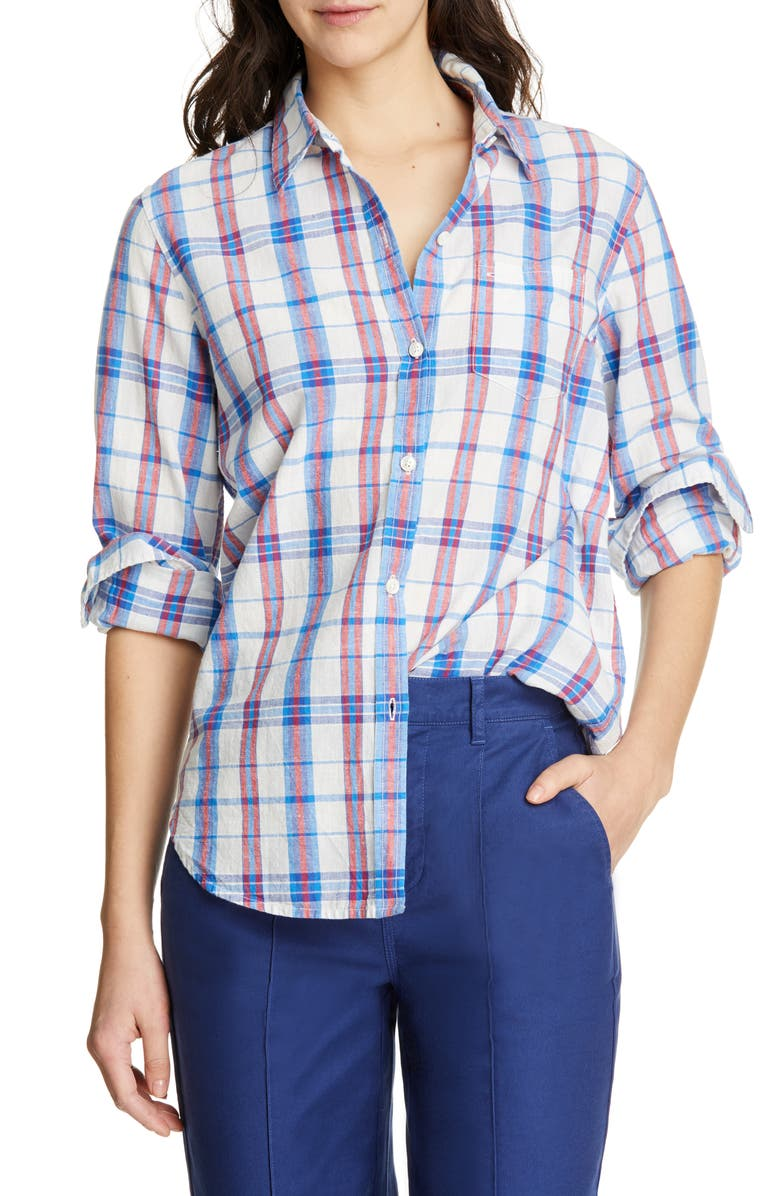 ALEX MILL Standard Plaid Shirt, Main, color, BLUE/ RED