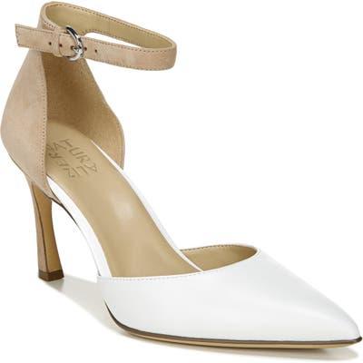 Naturalizer Aurelia Ankle Strap Pump, White