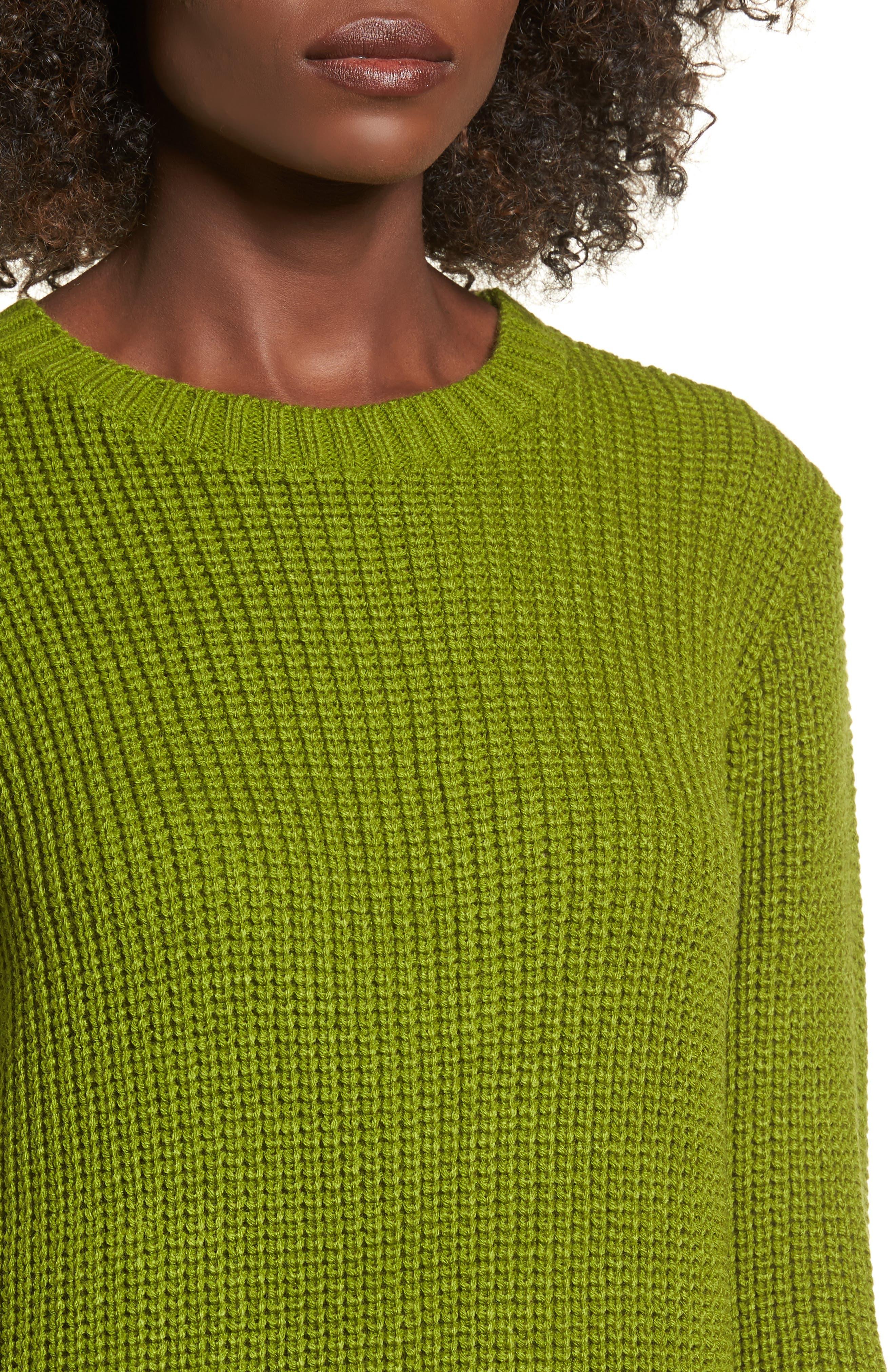 ,                             Flared Sleeve Sweater Dress,                             Alternate thumbnail 10, color,                             300