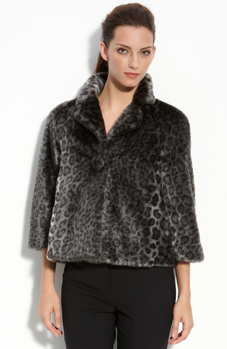 KATE SPADE NEW YORK 'amelia' faux fur coat, Main, color, 020