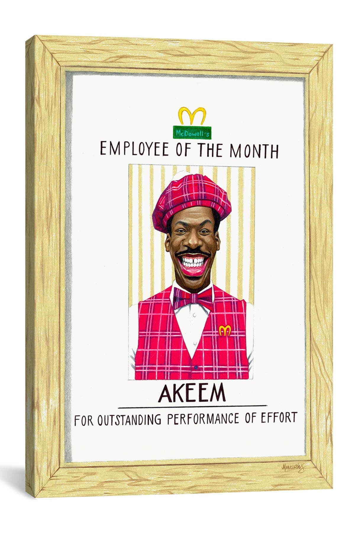 Image of iCanvas Akeem, Employee Of The Month by Manasseh Johnson