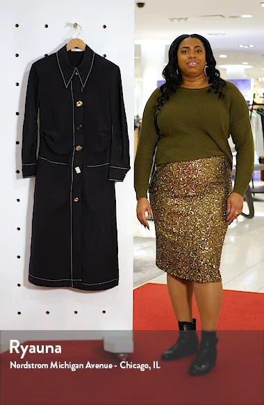 Paula Ruched Long Sleeve Midi Shirtdress, sales video thumbnail