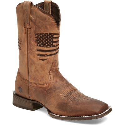 Ariat Circuit Patriot Cowboy Boot, Brown
