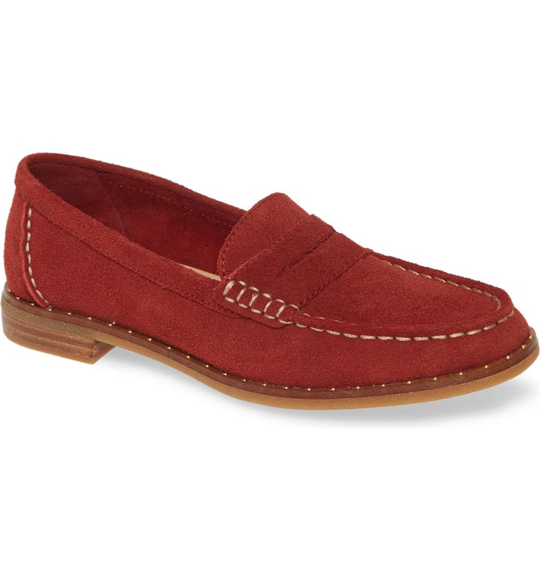 SPERRY Seaport Penny Loafer, Main, color, WINE SUEDE