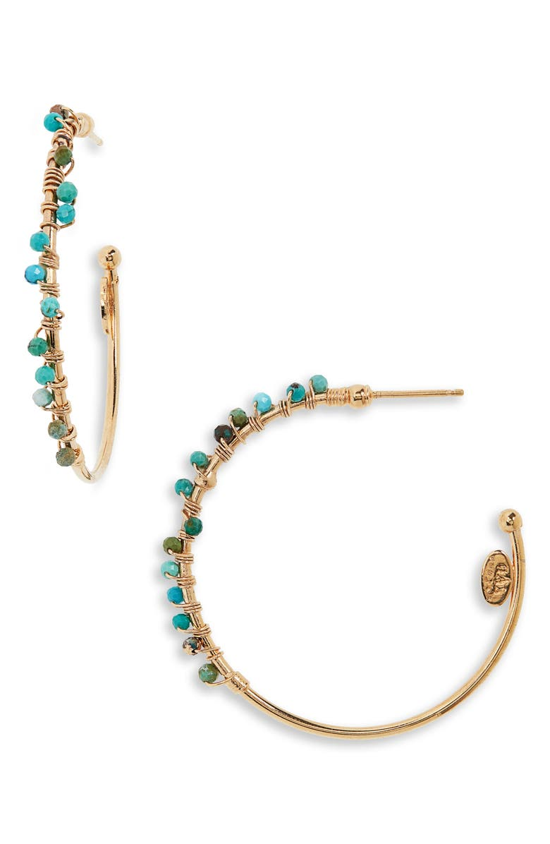 GAS BIJOUX Creole Calliope Hoop Earrings, Main, color, 400