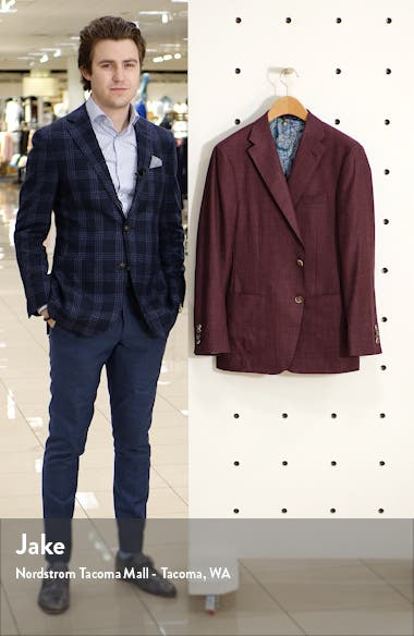 Classic Fit Solid Wool Blend Sport Coat, sales video thumbnail