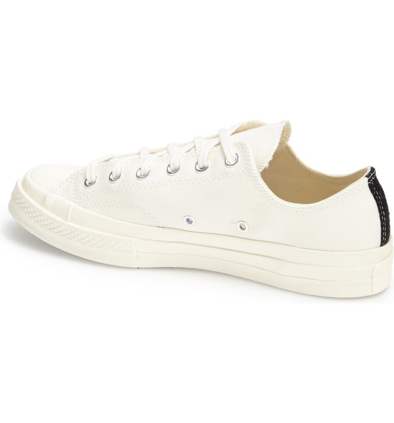 COMME DES GARÇONS PLAY x Converse Chuck Taylor<sup>®</sup> Hidden Heart Low Top Sneaker, Main, color, BEIGE
