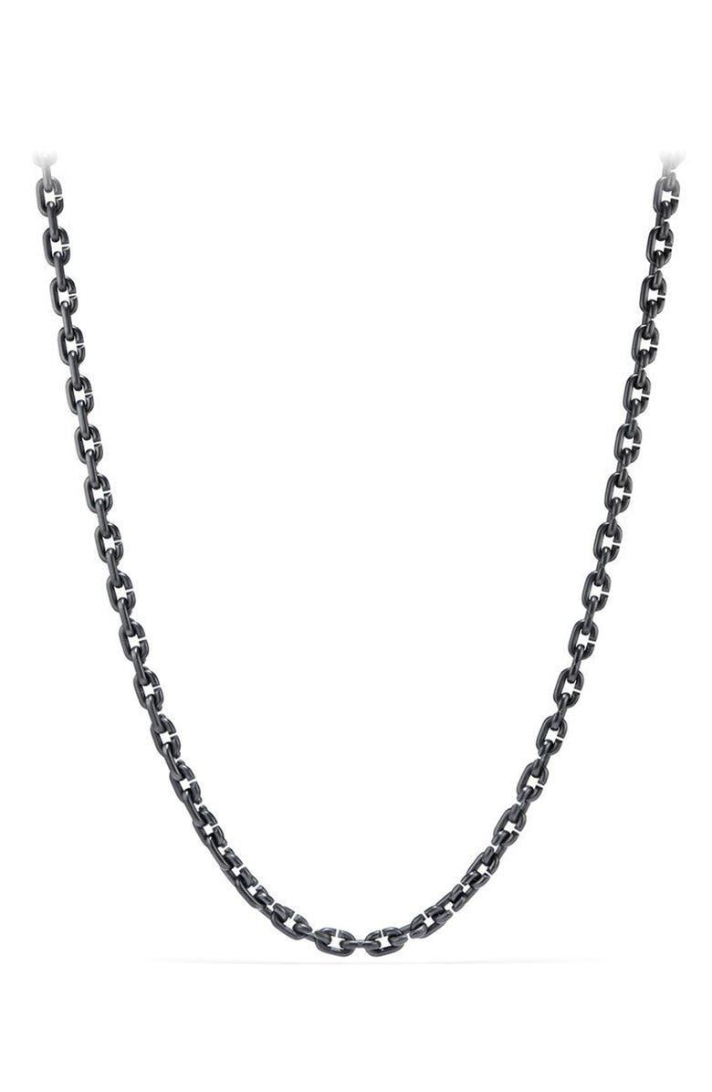 DAVID YURMAN Narrow Chain Link Necklace, Main, color, TITANIUM