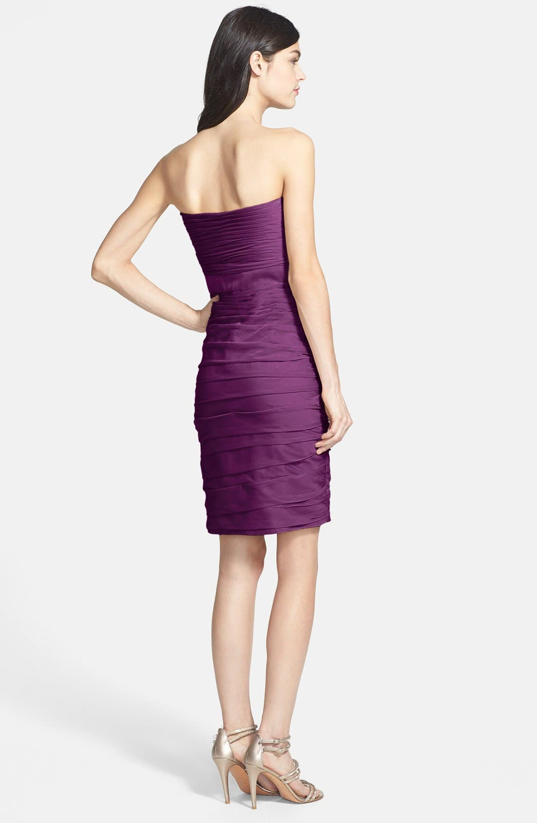 ,                             Ruched Strapless Cationic Chiffon Dress,                             Alternate thumbnail 49, color,                             500