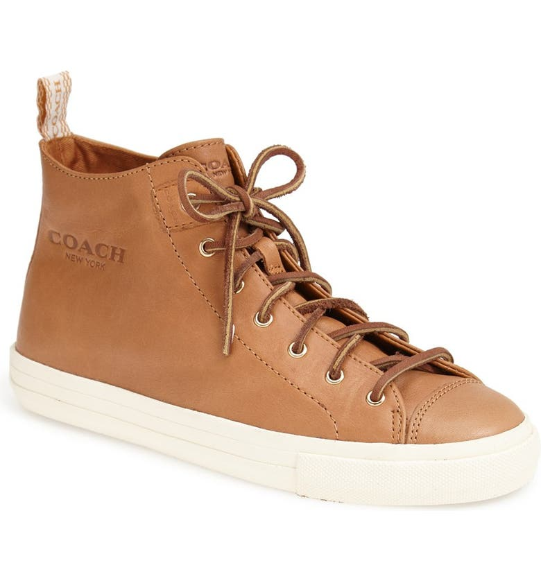 COACH 'Brenna' Leather Sneaker, Main, color, 242