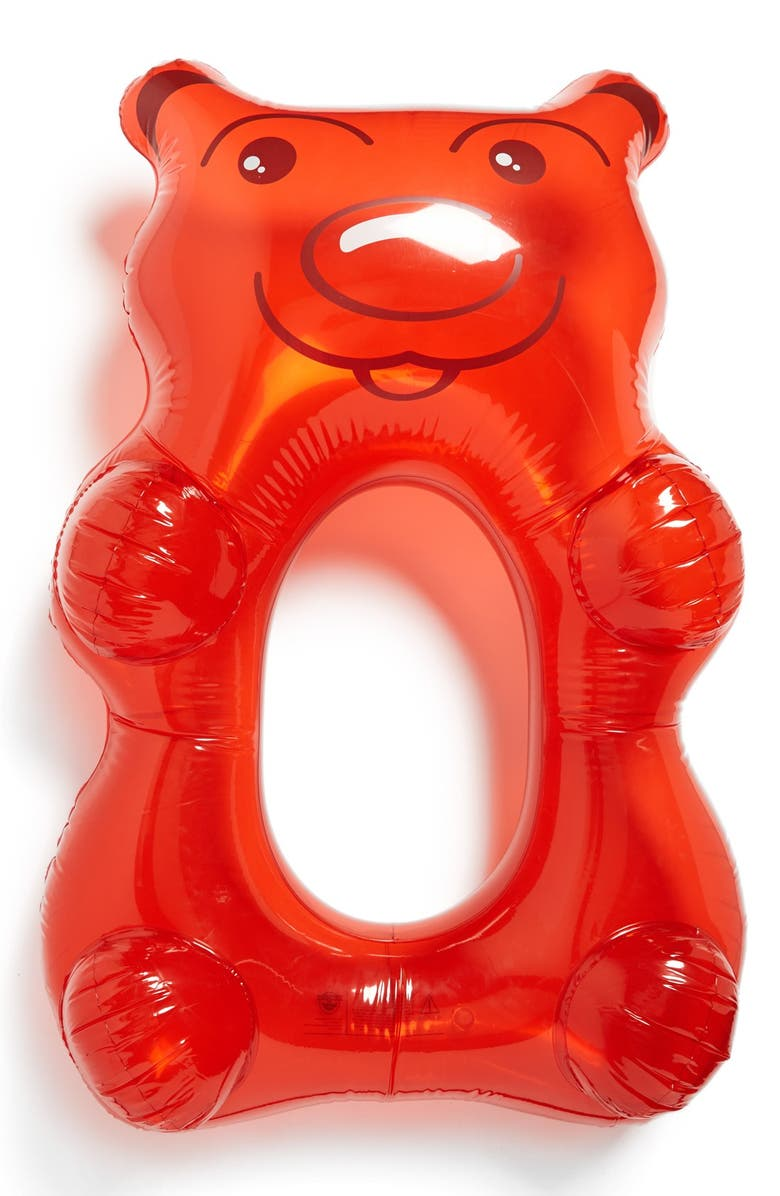 BIGMOUTH INC Big Mouth Toys 'Gummy Bear' Pool Float, Main, color, MULTI RED