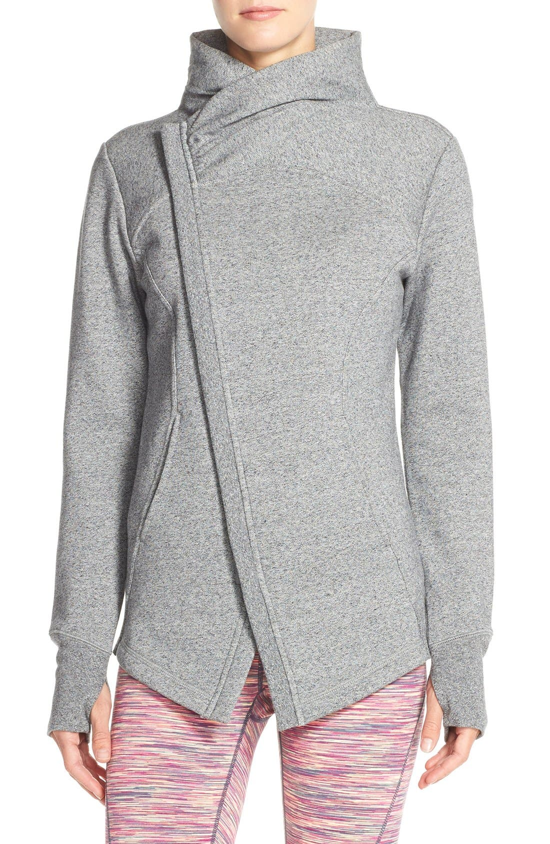 ,                             'Snowdrift' Asymmetrical Zip Sweatshirt,                             Main thumbnail 7, color,                             030