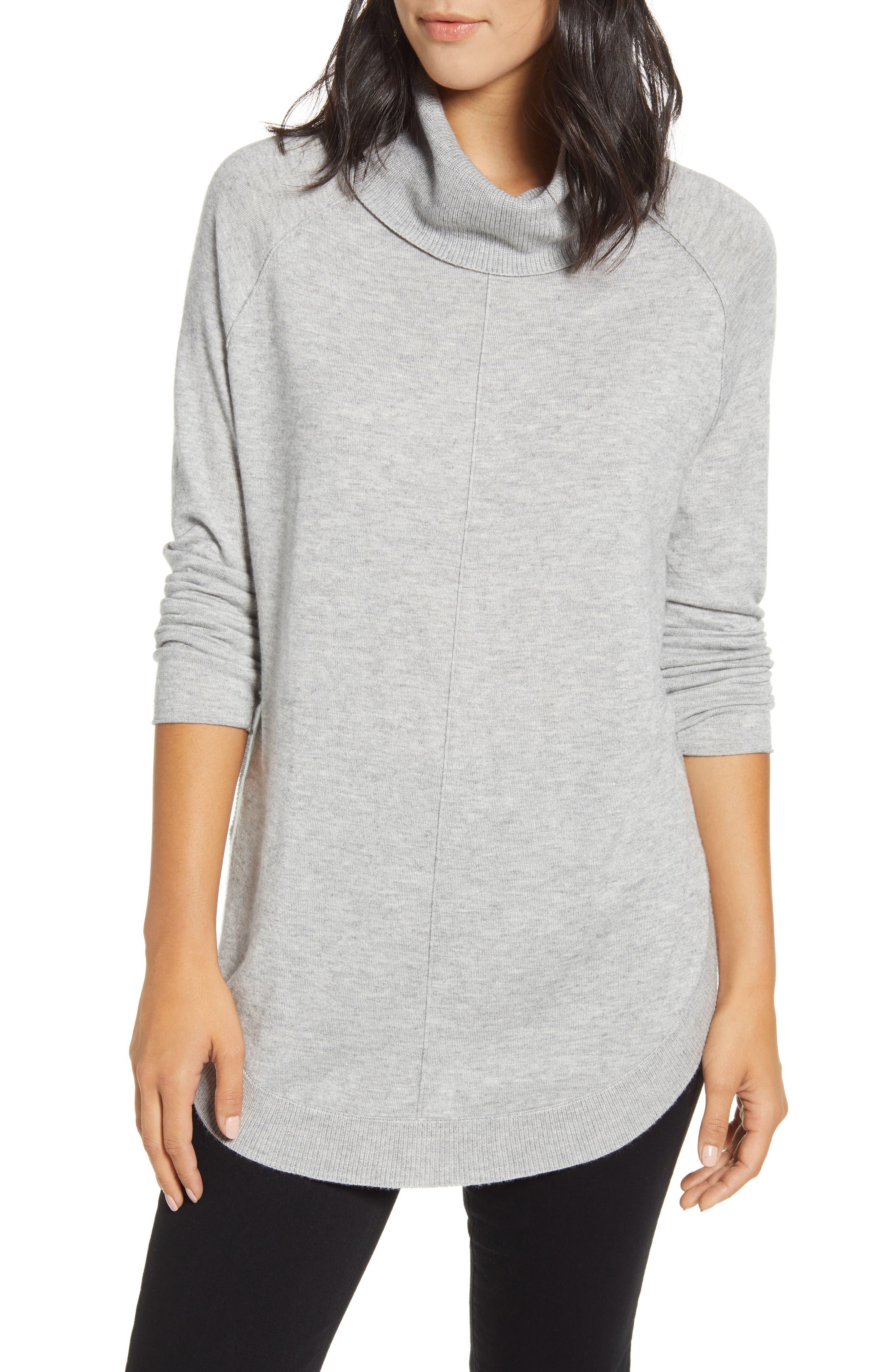 Image of Caslon Turtleneck Tunic Sweater