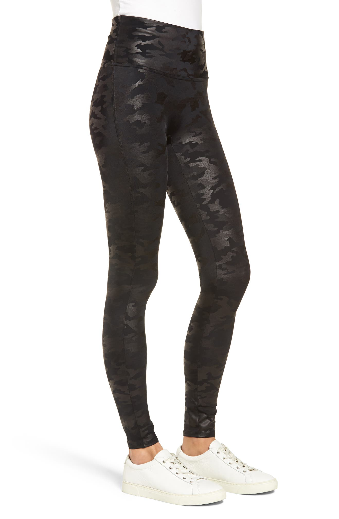 56460482f2a12 SPANX® Camo Faux Leather Leggings | Nordstrom