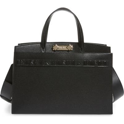 Mcm Medium Milano Goatskin Leather Tote - Black