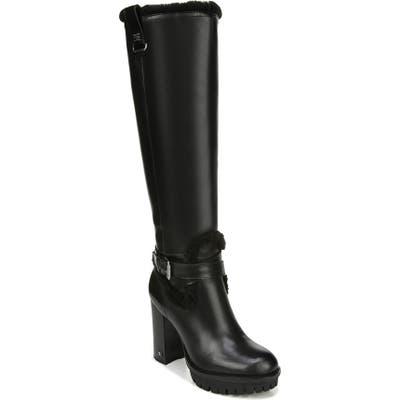 Sam Edelman Tiahna Knee High Platform Boot- Black