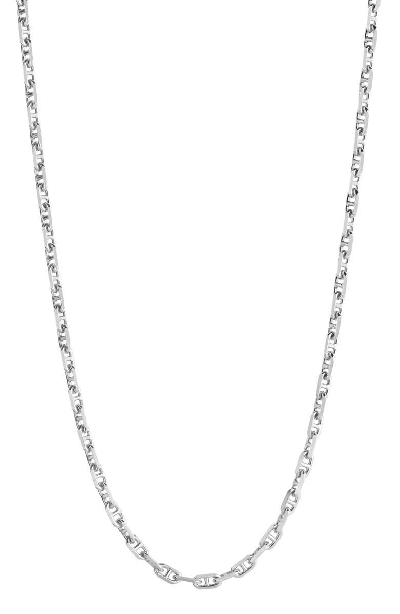 MARIA BLACK Marittima Chain Necklace, Main, color, SILVER