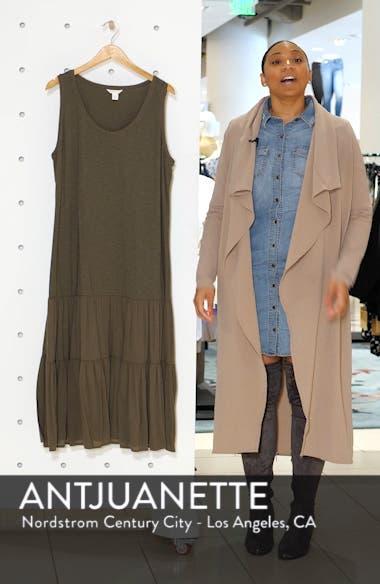 Mix Media Drop Waist Midi Dress, sales video thumbnail
