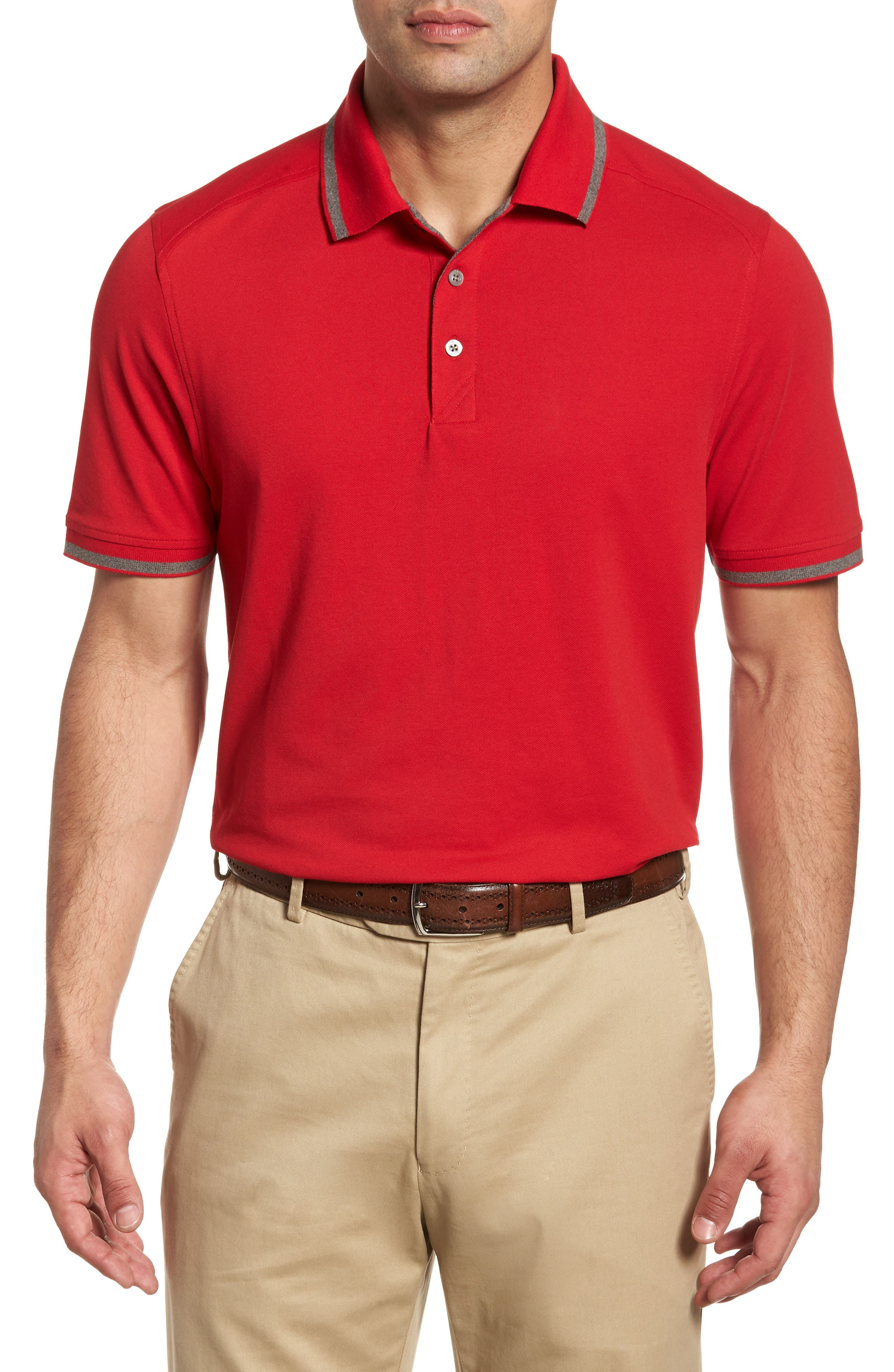 Advantage Classic Fit Tipped Drytec Polo