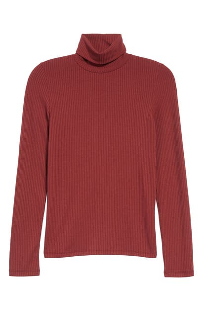 Madewell Tops RIBBED TURTLENECK TOP