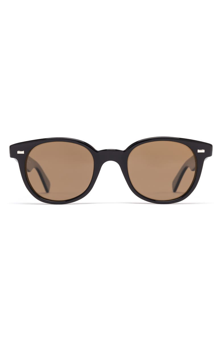 SALT. Andy 51mm Polarized Sunglasses, Main, color, BLACK