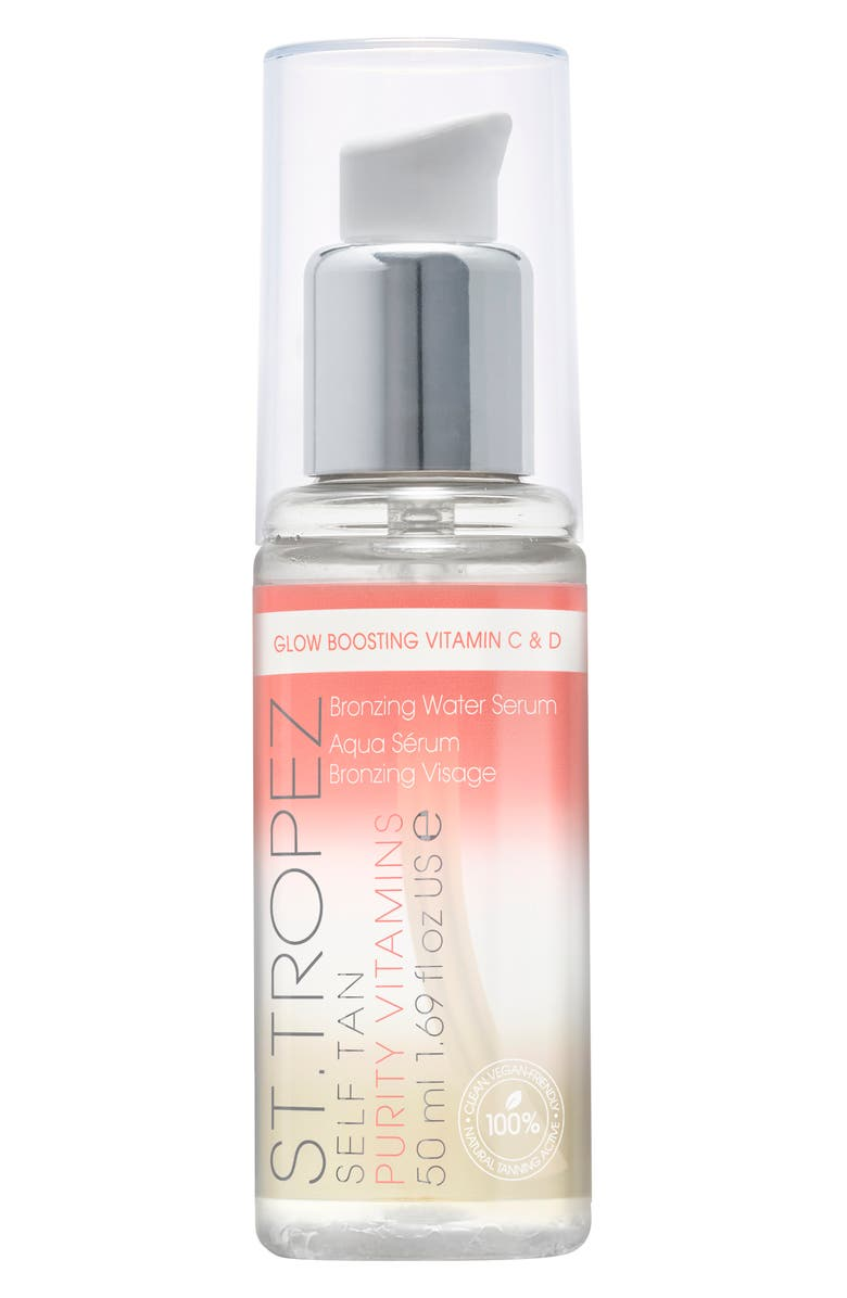 ST. TROPEZ Self Tan Purity Vitamins Bronzing Water Face Serum, Main, color, NO COLOR