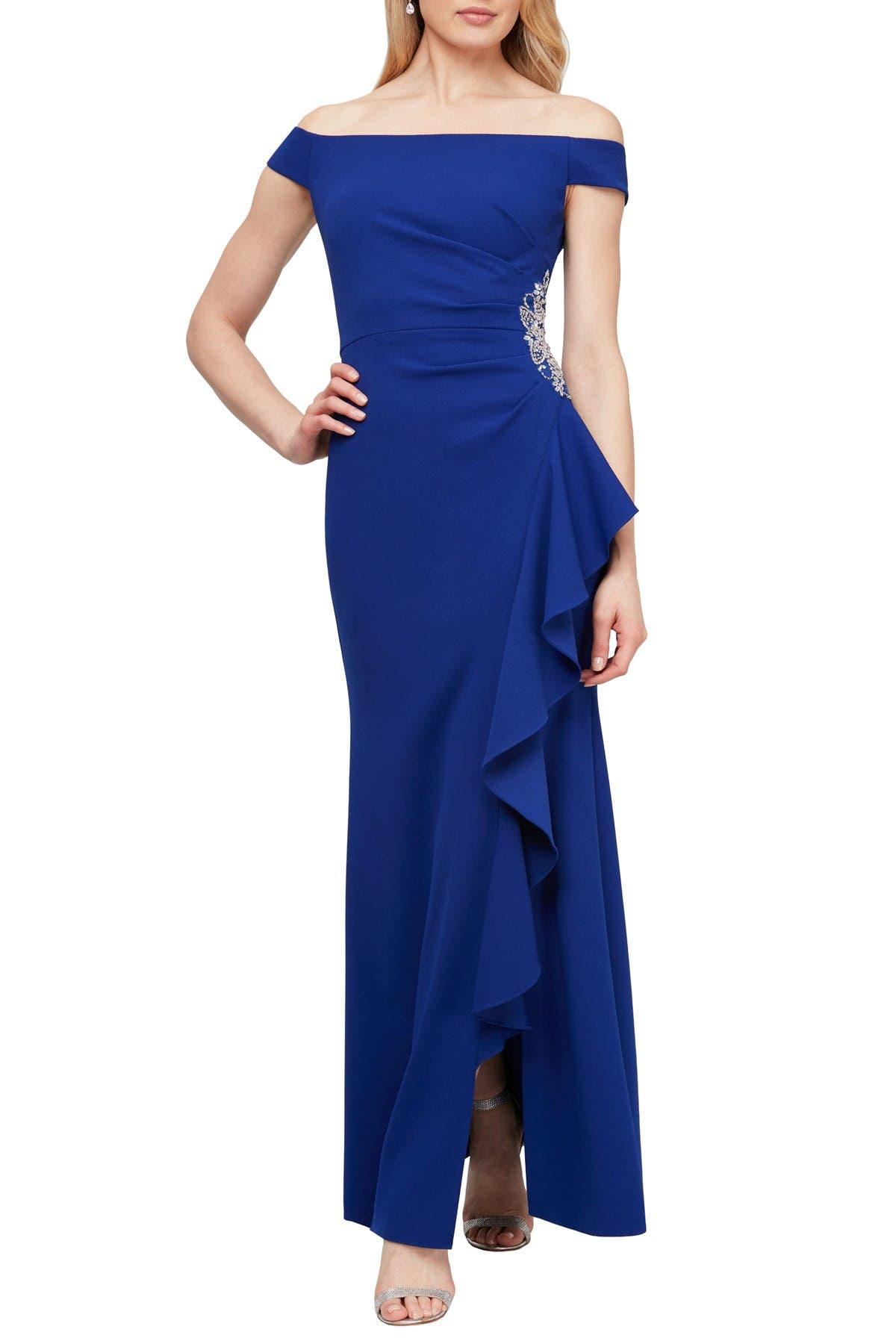 Image of Ignite Off-The-Shoulder Gown