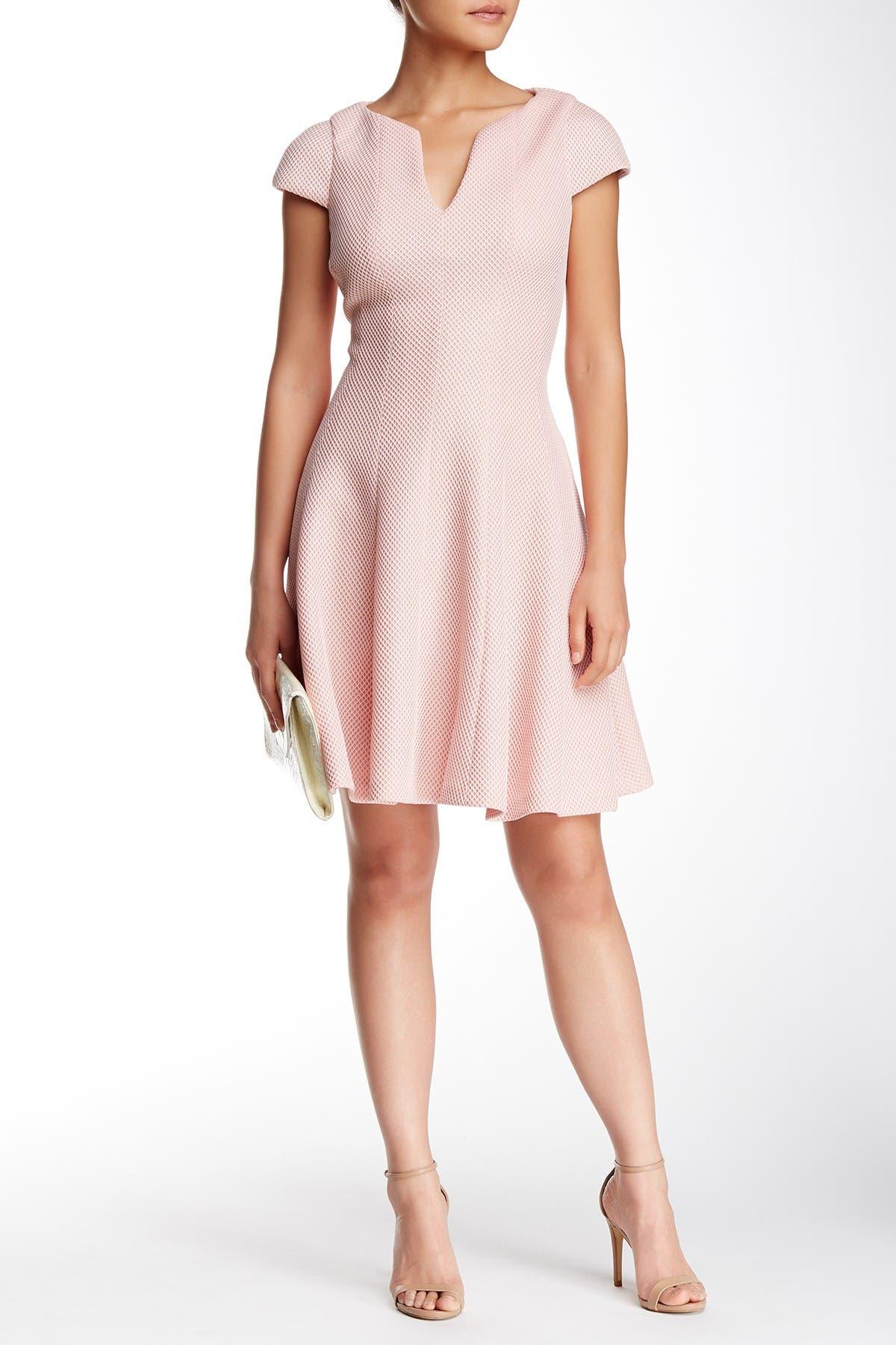 Image of Julia Jordan Cap Sleeve Textured Dress