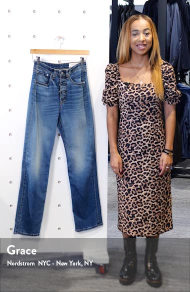Jane Super High Waist Exposed Button Fly Cigarette Jeans, sales video thumbnail