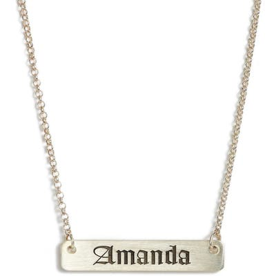 Argento Vivo Personalized English Font Bar Necklace