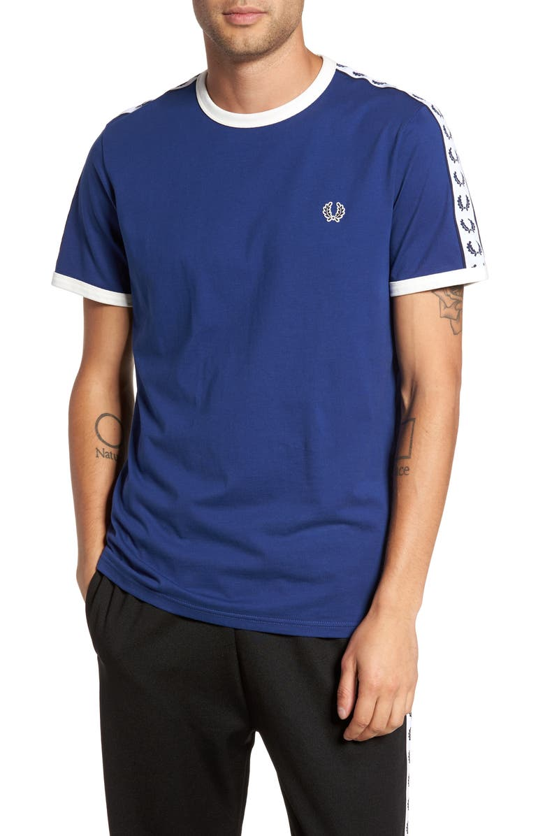 FRED PERRY Extra Trim Fit Cotton Ringer T-Shirt, Main, color, 405