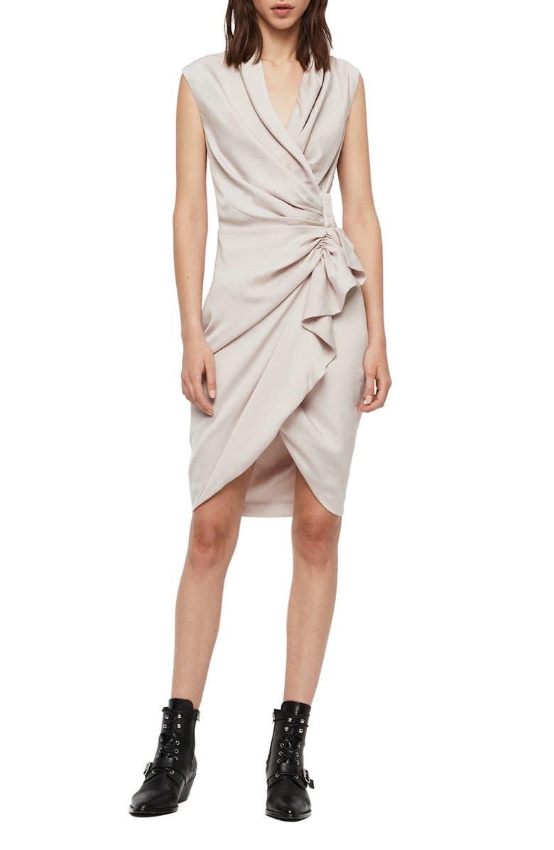 ALLSAINTS Cancity Dress, Main, color, 031